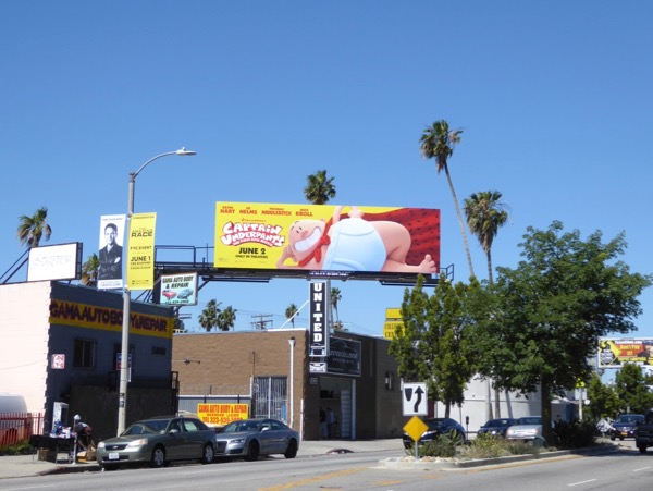 Captain Underpants film billboard