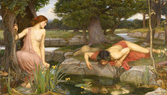 "John William Waterhouse ""Echo and Narcissus"""