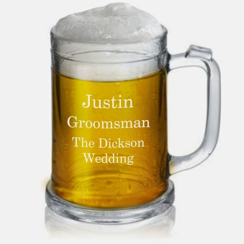 Engraved Glass Pint Mug with Handle