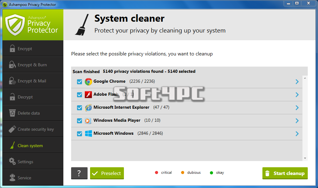 Ashampoo Privacy Protector 1.0.1.62 + Crack