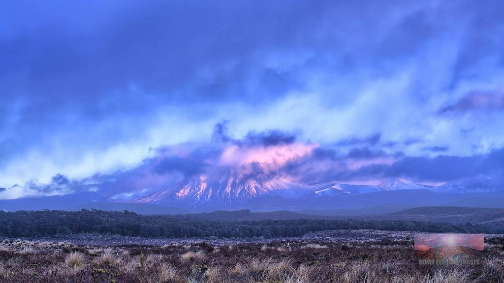 Snow Storm clearing over Mt Ngauruhoe