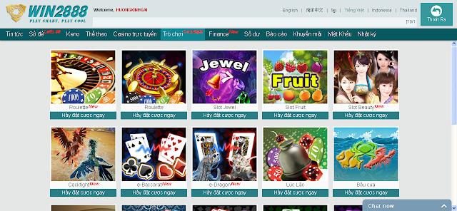 Win2888 trò chơi phong phú