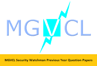 MGVCL Security Watchman Previous Year Question Papers