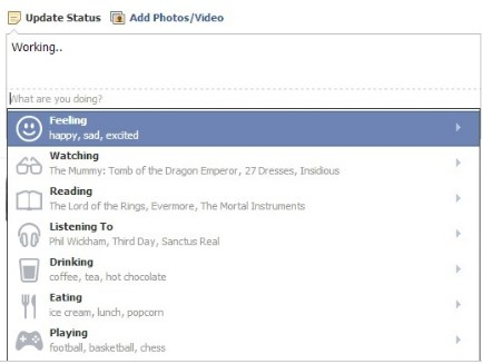 how to do facebook emoticons on status