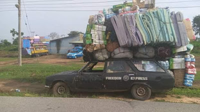 See Photos Of Overloaded Vehicles Impounded By FRSC In Cross River 3