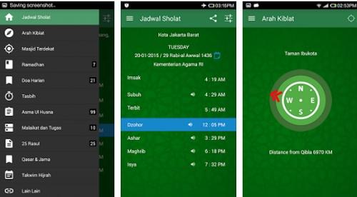 aplikasi android alarm adzan sholat dan kiblat