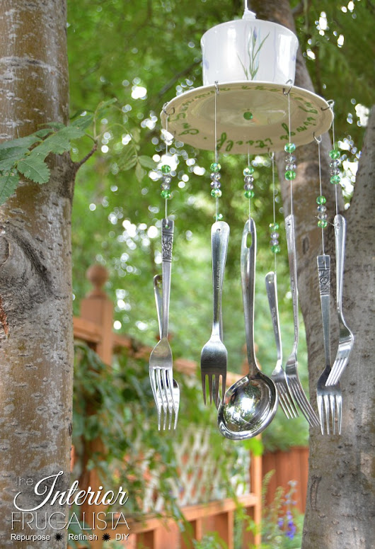 How To Make Wind Chimes From Thrift Store Dishes and Silverware