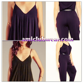 bd829209c8a You can look sexy and comfy in this super cute jumpsuit! Featuring  V  neckline cut