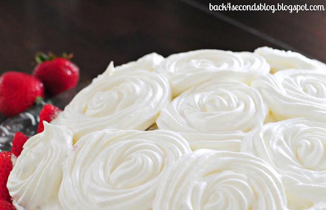 Pink Zebra Tres Leches Cake #rosettes #zebra #animalprint #cake #strawberries