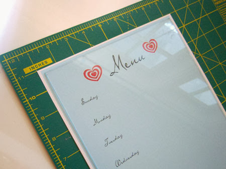 DIY Dry-Erase Menu Board with Free Printables align
