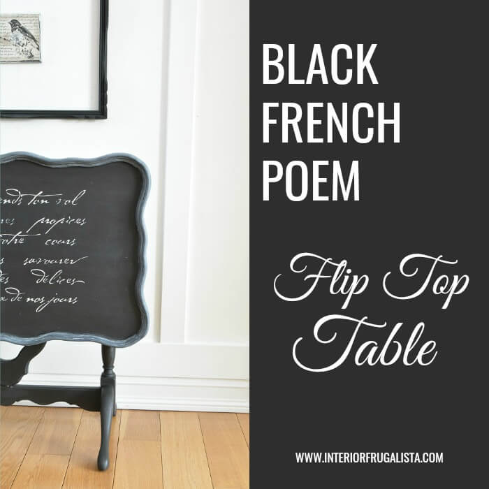 Flip Top Table Makeover