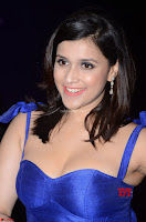 Mannara Chopra in Deep Neck Blue Gown at Zee Telugu Apsara Awards ~  Exclusive 045.jpg