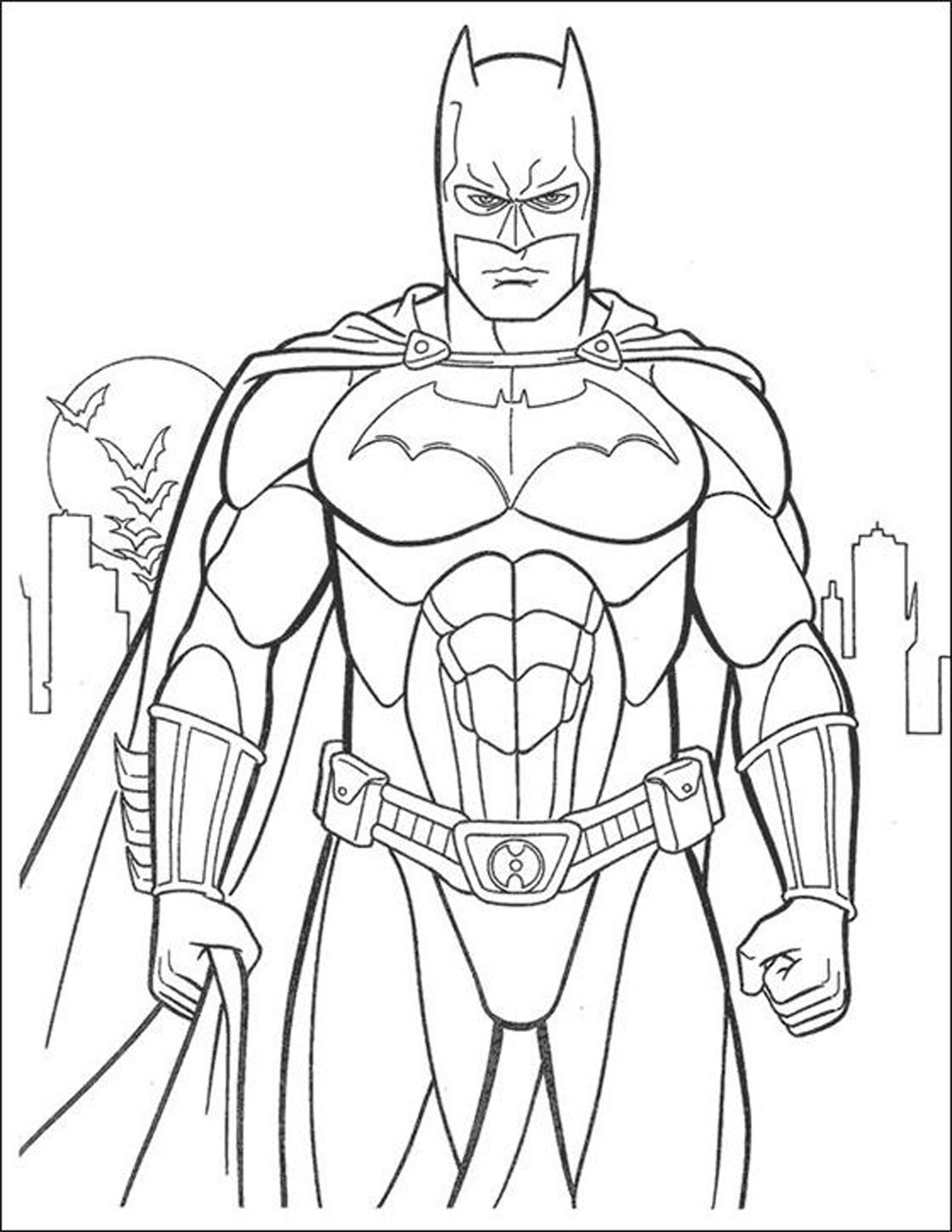 Best HD Batman Coloring Pages Image | Big Collection Free ...