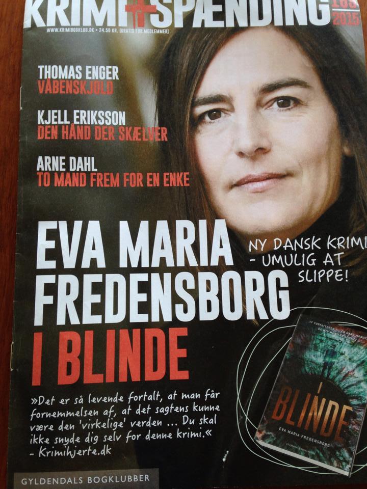 7a685d41f80 Som du kan se på billedet har Krimihjerte og Eva Maria Fredensborg været på  hele 3 sider i Gyldendals krimibogklub. Det var ret vildt.