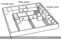 Ground floor layout of the 1850s prison on Queen Street, Brisbane.