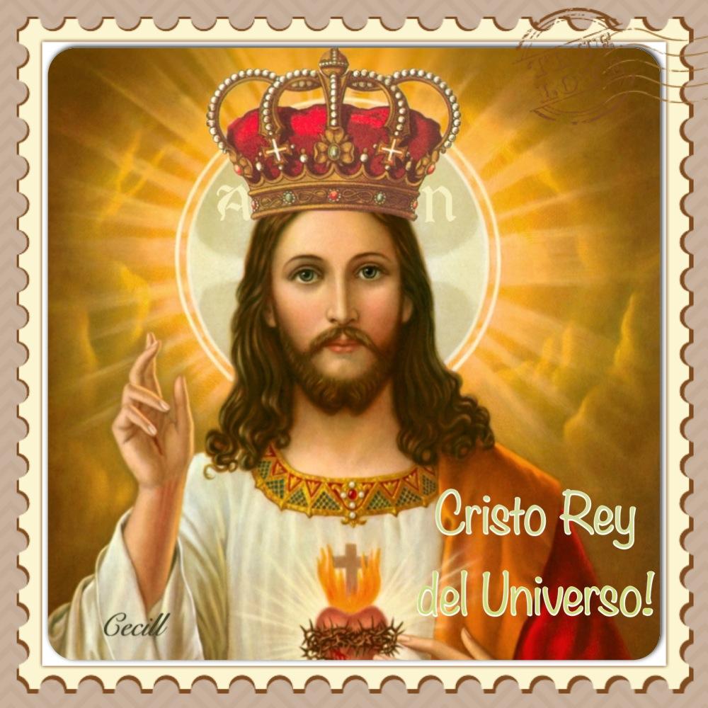 Vidas Santas: Cristo Rey del Universo, Estampas