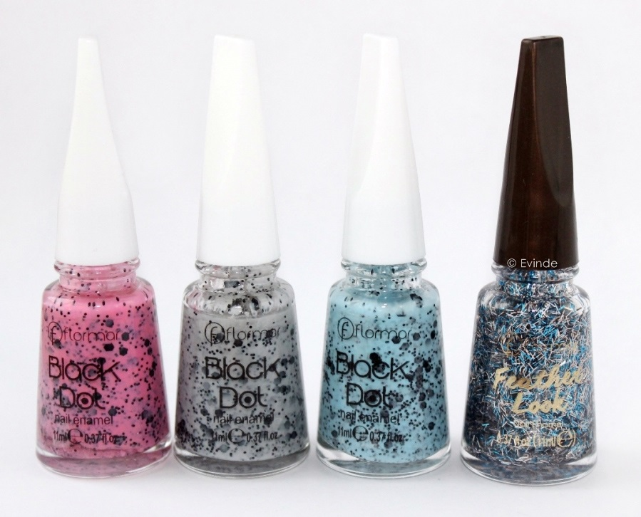 flormar black dot nail polish