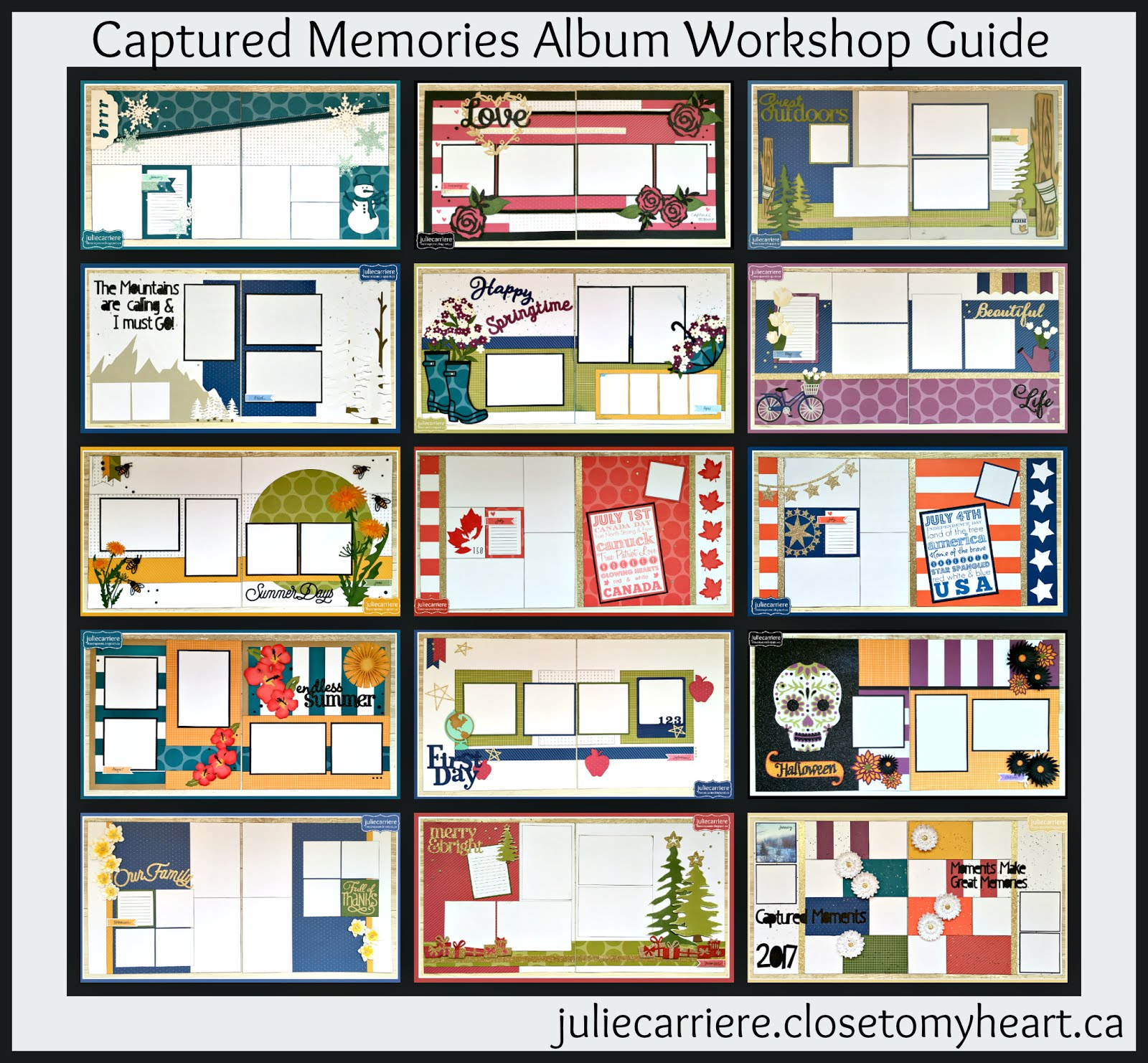 Captured Memories Album assembly guide for EXPLORE and expression