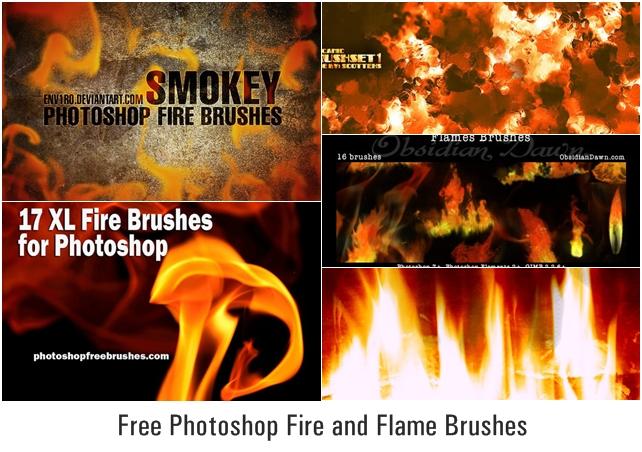 Бесплатные кисти огня и пламени для Фотошопа