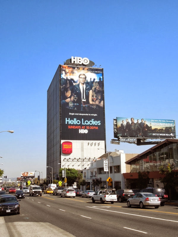 Giant Hello Ladies HBO billboard Sunset Strip