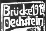 Cartel de El Puente o Die Brücke, grupo expresionista