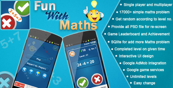 Maths Fun Awsome App ~ Codecanyon