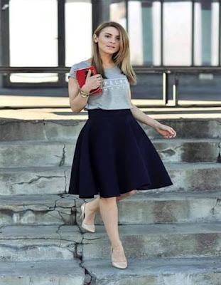 ropa con falda elegante adolescente