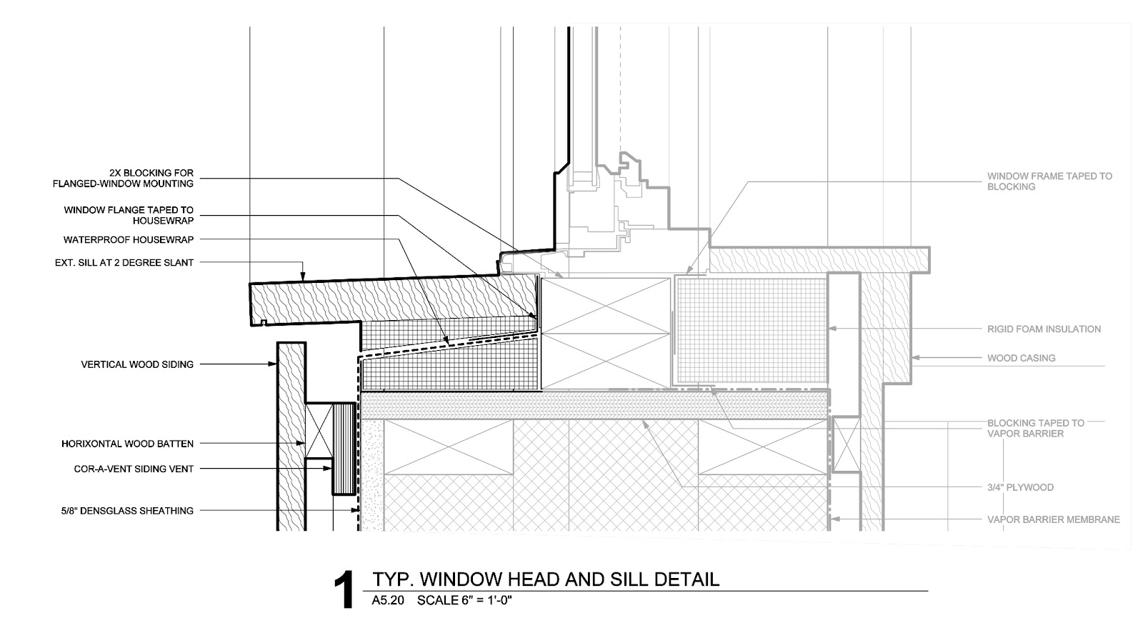 The bldgtyp blog exterior detailing is all about layering - Replacing a window sill exterior ...
