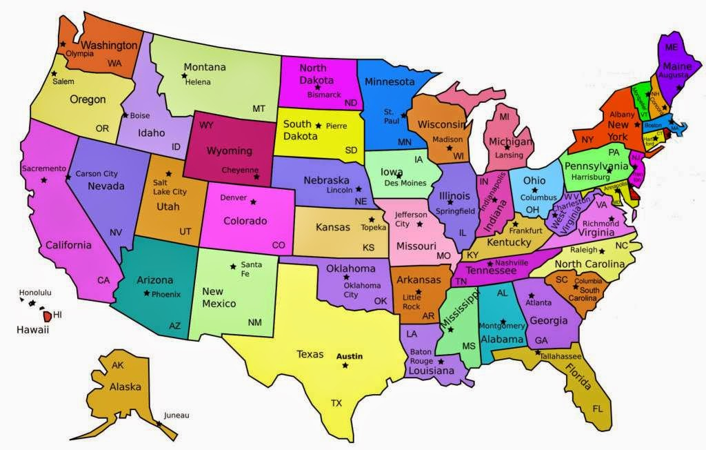 Map Of Usa Showing All States.Usa Map 50 States Map Usa Map Images