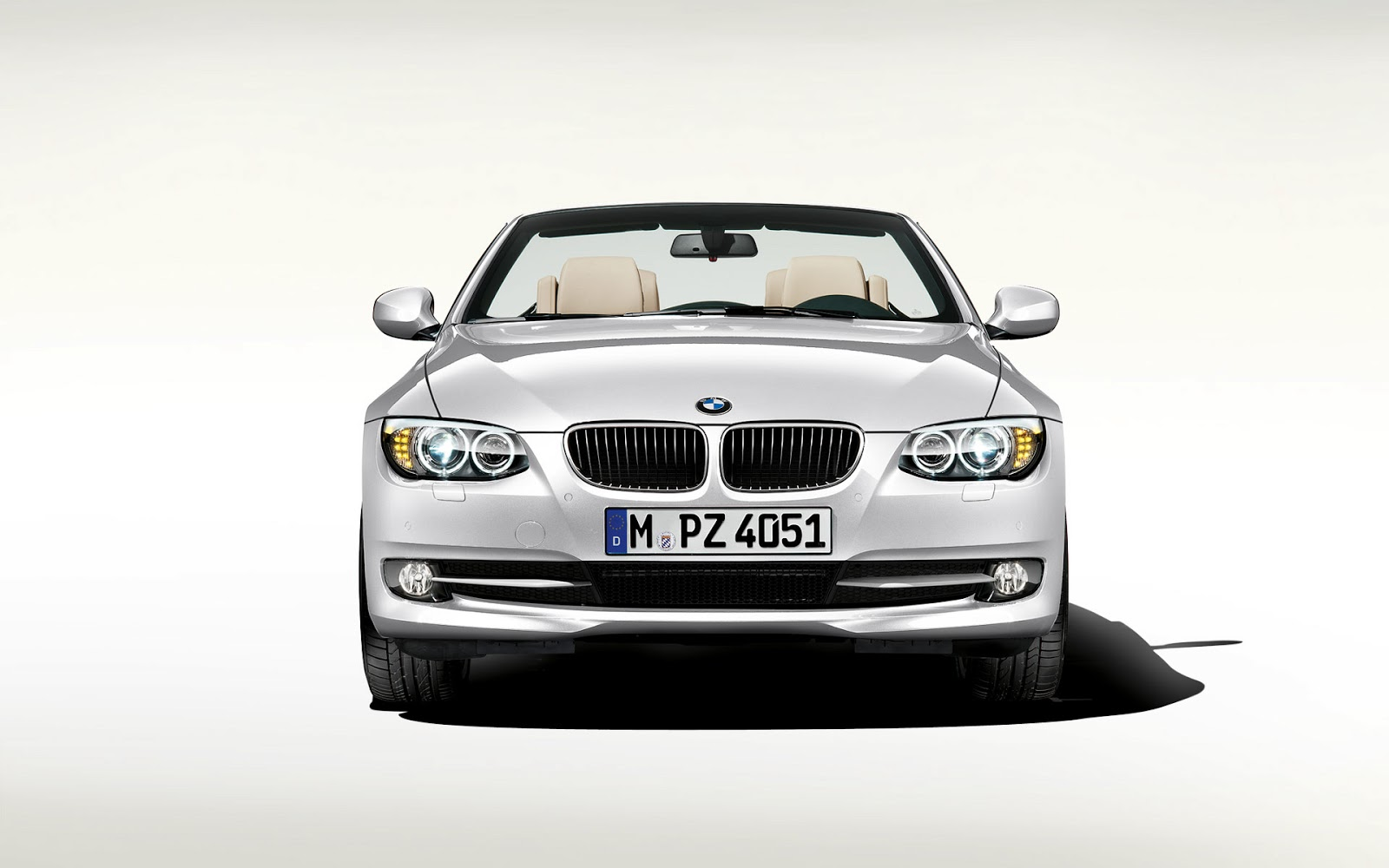 Front View Bmw New 3 Series Convertible White Car Reviews New