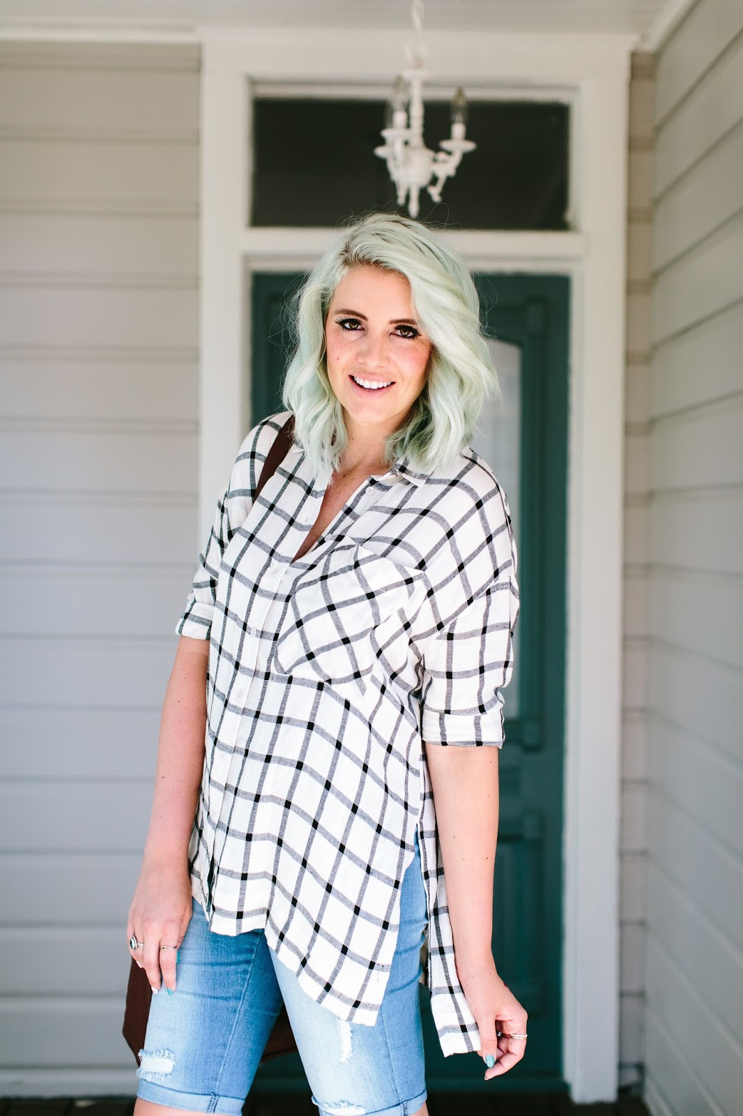 Summer Style, Blue Hair, Utah Fashion Blogger