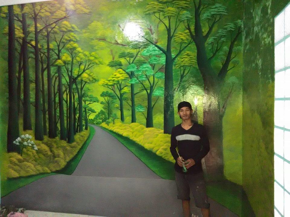 Gambar lukisan dinding mural cafe bandung mural cafe for Mural hitam putih