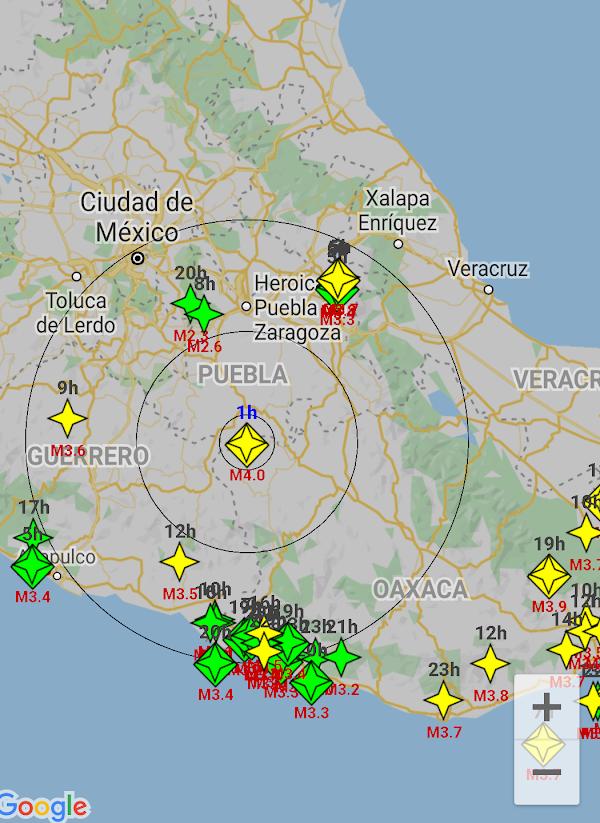 Se registra sismo inusual en puebla Mexico.