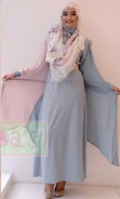 Model Baju Gamis Muslim Syahrini Modern Terbaru