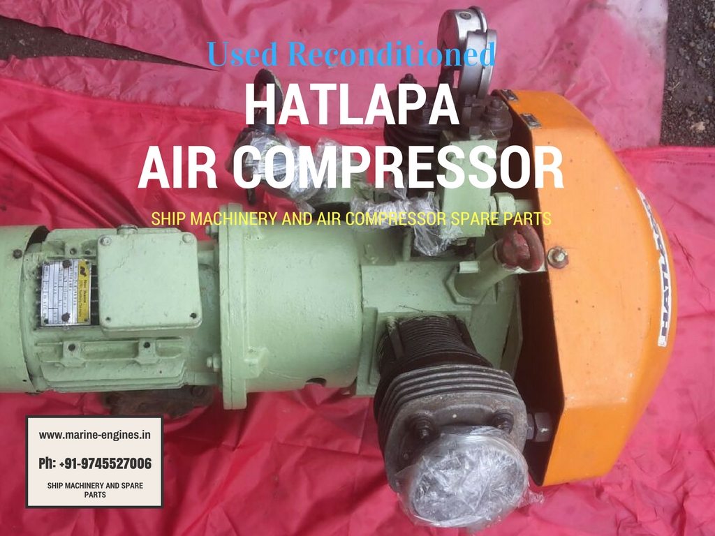 Hatlapa Air Compressor, Used, Recondition, Sale, Ship machinery, available, second hand, India, Repair, Compressor for ship