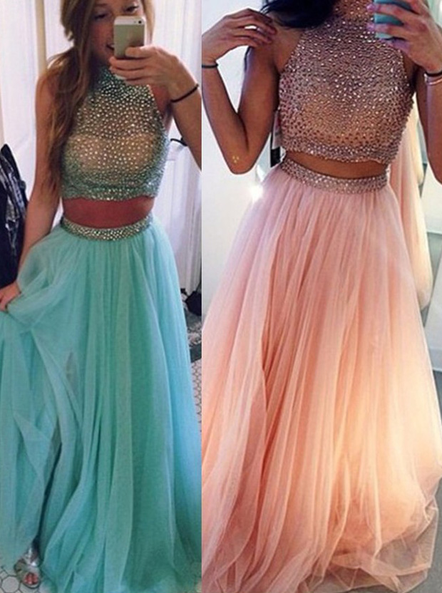 https://www.simple-dress.com/gorgeous-two-pieces-beading-halter-neck-prom-dress-tulle-sleeveless-long-prom-dress.html