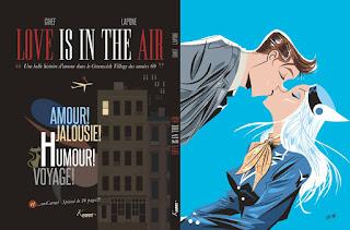 Love is in the Air - le titre en 4eme de couverture et un carnet graphique