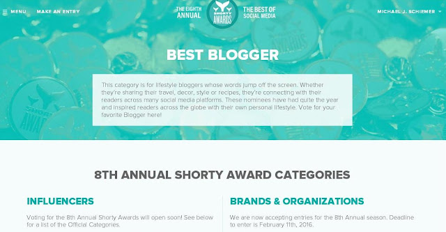 Mike Schiemer Social Media Awards Shorty Awards Frugal Business Blogger 2016