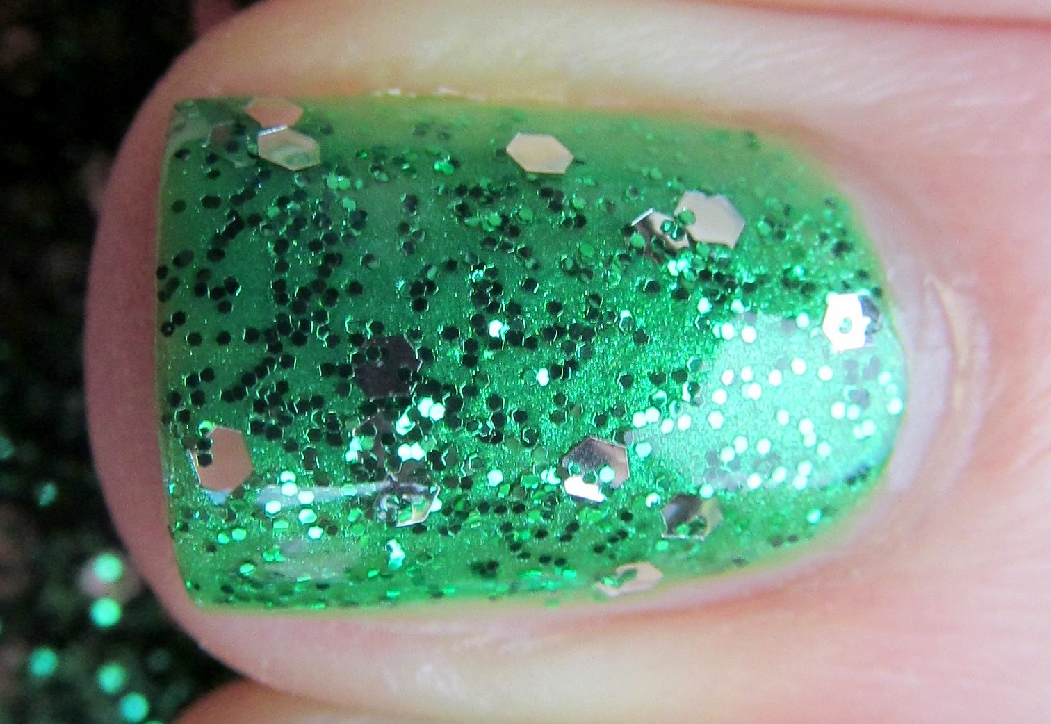 China Glaze Paper Chasing and OPI Fresh Frog of Bel Air
