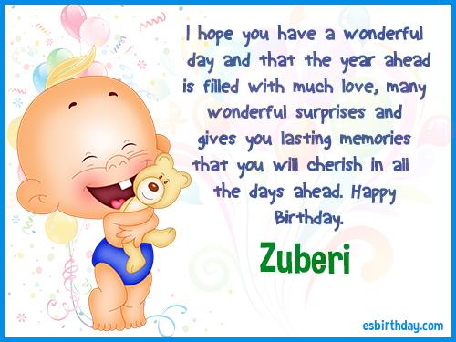 Zuberi Happy Birthday