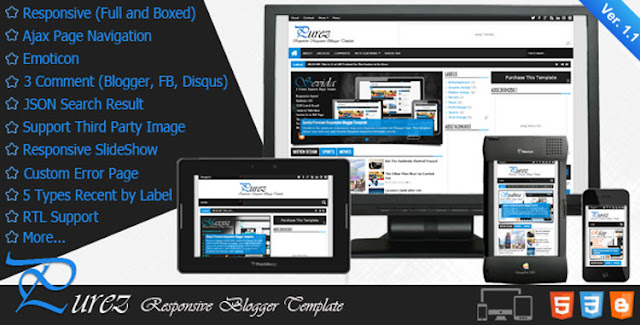 purez blogger template free download