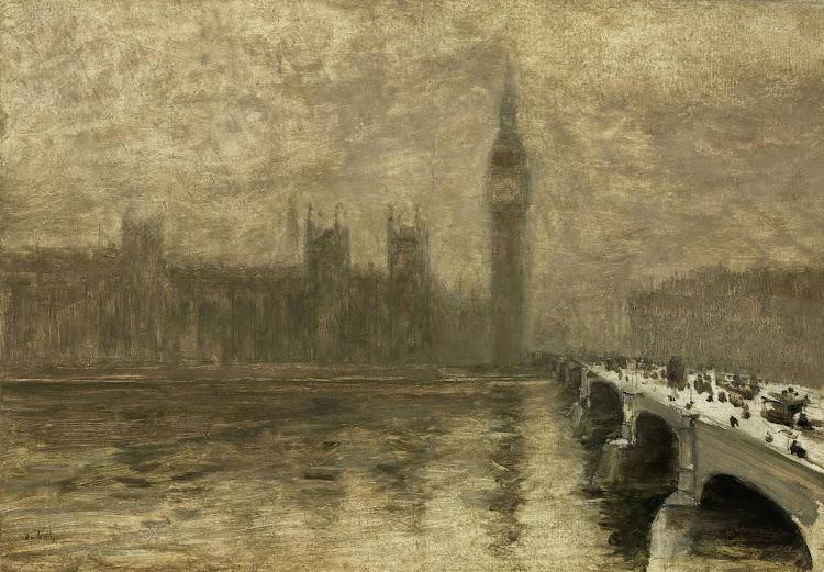 Giuseppe De Nittis - Fog over Westminster Bridge (c.1878)