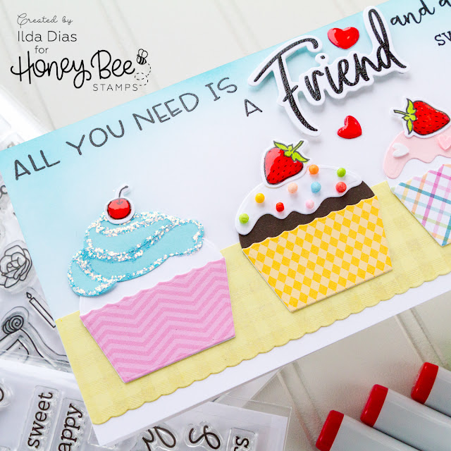 Cupcakes and Friends Honey Bee Stamps Brie Mine Blog Hop by ilovedoingallthingscrafty.com