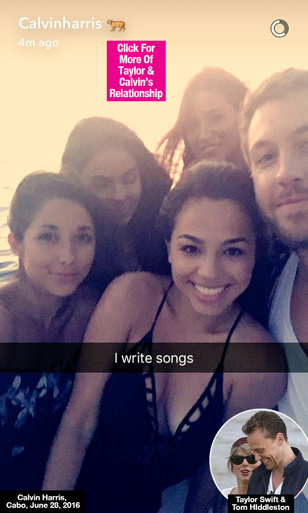 Calvin Harris Surrounds Himself With Gorgeous Women In Cabo: Revenge On Taylor Swift?