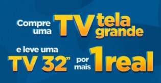 Promoção Casas Bahia Copa do Mundo 2018 Compre Tv Tela Grande +1 Real Leve Tv 32
