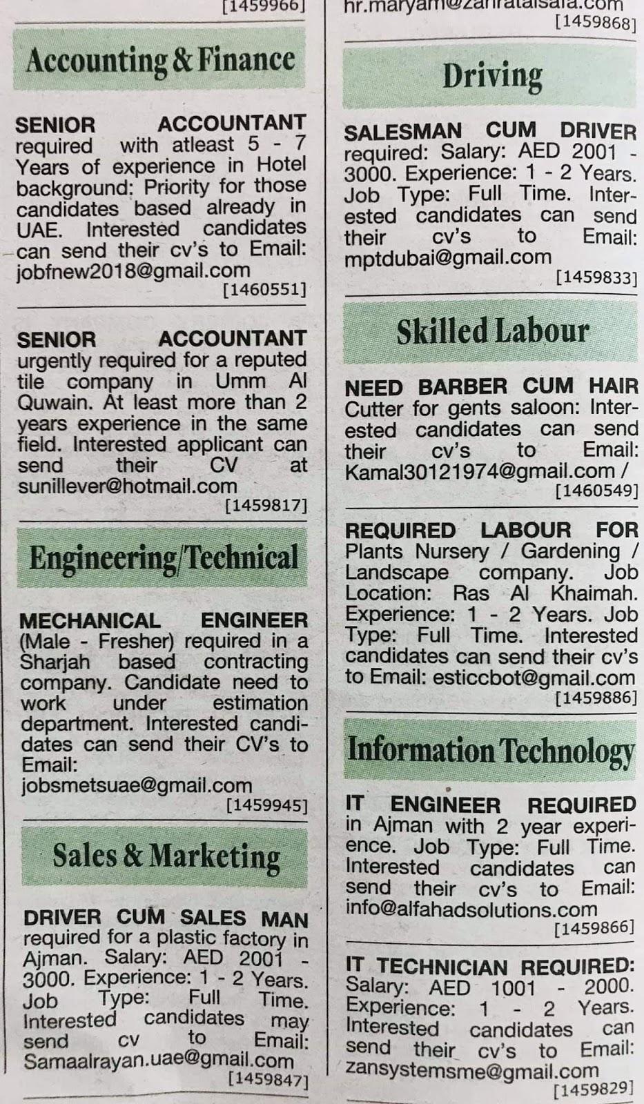 Candidates Hiring for UAE Local Hiring Jobs Khaleej Times