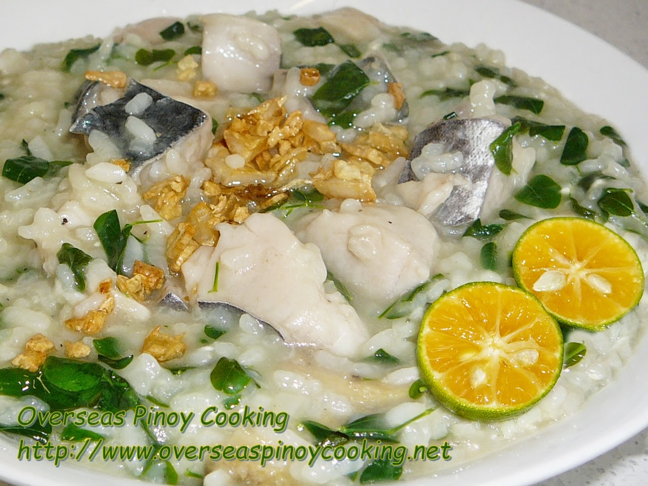 Fish Lugaw with Malungay, a Pinoy version of Fish Risotto with Malungay
