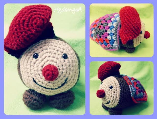 Caga tió siguiendo el patrón de So Fanny!! Handmade