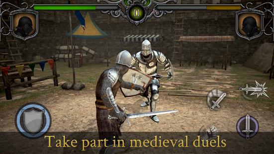 لعبة القتال والاكشن Knights Fight Medieval Arena v1.0.9 مهكرة كاملة للاندرويد