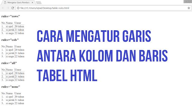 cara mengatur garis html